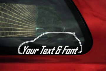 2x Suzuki Swift Sport (2004–2010) CUSTOM TEXT stickers